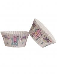 25 Formas de cupcakes em papel Peppa Pig™ 5 x 3 cm