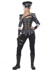 Disfarce capitã steampunk mulher