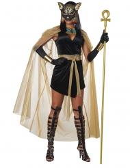 Disfarce deusa felino do Egito mulher