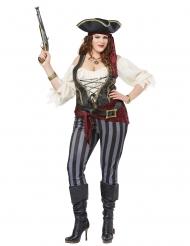 Disfarce pirata tamanho grande mulher