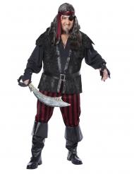 Disfarce pirata impiedoso tamanho grande homem