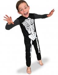 Disfarce esqueleto clássico criança