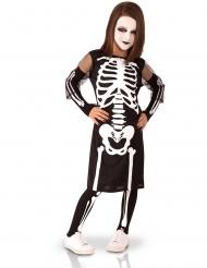 Disfarce completo esqueleto menina