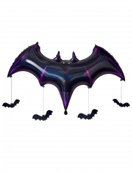 Balão de alumínio morcego lilás 130 x 80 x 20 cm