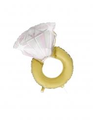 Balão de alumínio anel de noivado 81 cm