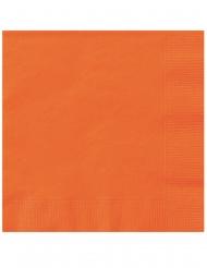 20 Guardanapos pequenos de papel laranja 25 x 25 cm