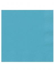 20 Pequenos guardanapos de papel azul turquesa 25 x 25 cm