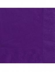 20 Guardanapos pequenos de papel roxo escuro 25 x 25 cm
