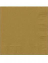 20 Pequenos guardanapos de papel dourado 25 x 25 cm