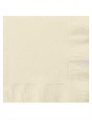 20 Guardanapos pequenos de papel cor de marfim