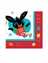 16 Guardanapos de papel Bing Bunny™ 33 x 33 cm