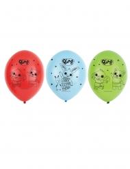 6 balões látex Bing™ 27 cm