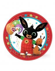 8 Pratos de cartão Bing Bunny™ 23 cm
