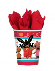 8 Copos de cartão Bing Bunny™ 266 ml