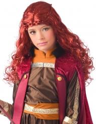 Peruca princesa bordô extremo norte menina