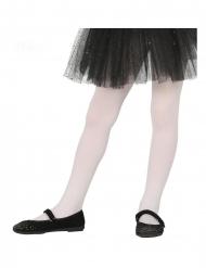 Collants opacos brancos para criança