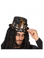 Chapéu vudu preto adulto