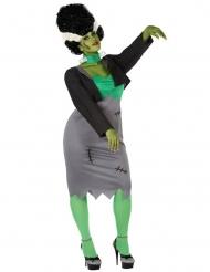Disfarce monstro verde mulher tamanho grande