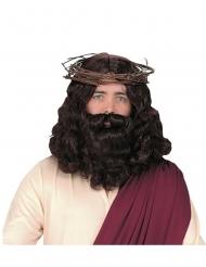 Peruca e barba luxo Jesus adulto
