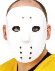 Máscara de hóquei branco plástico adulto