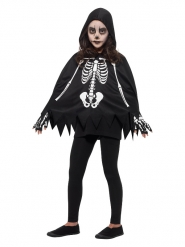 Poncho esqueleto criança