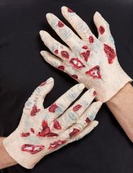 2 Mãos de zombie látex adulto