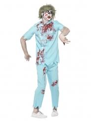 Disfarce com acessórios dentista zombie homem