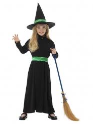 Disfarce pequena bruxa verde menina