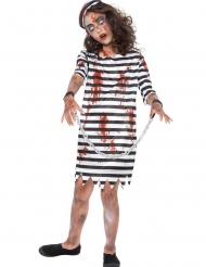 Disfarce prisioneira zombie menina