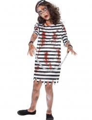 Disfarce prisioneira zombie para menina