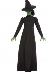 Disfarce bruxa preto mulher