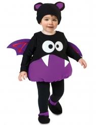 Disfarce lindo pequeno morcego criança