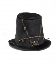 Chapéu alto caveira 58 cm adulto