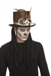 Chapéu bruxo vudu 59 cm adulto