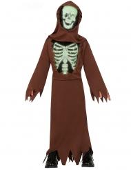 Disfarce monge esqueleto criança