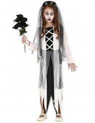 Disfarce noiva zombie para menina
