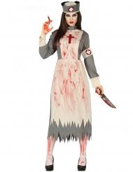 Disfarce enfermeira retro zumbi mulher