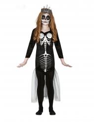 Disfarce esqueleto sereia menina