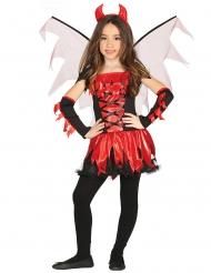 Disfarce diabinha com asas menina