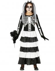 Disfarce noiva esqueleto para menina