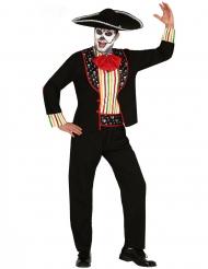 Disfarce mariachi Dia de los muertos homem