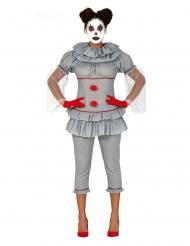 Disfarce palhaço psicopata calças mulher