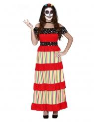 Disfarce mexicana Dia de los muertos mulher