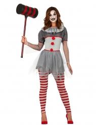 Disfarce palhaço psicopata legging mulher