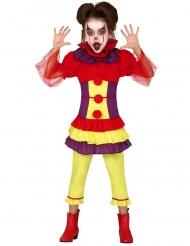 Disfarce palhaço maléfico multicolor menina