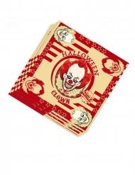 20 Guardanapos de papel palhaço assassino 33 x 33 cm