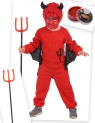 Pack disfarce diabo vermelho criança