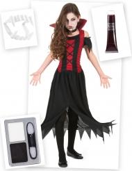 Pack disfarce e acessórios de vampiro menina