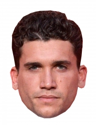 Máscara de cartão ladrão Jaime Lorente