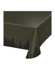 Toalha de plástico anos 20 preto e dourado 137 x 259 cm
